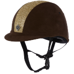 Kask skokowy Charles Owen YR8 sparkly brown gold