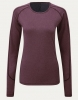 Bluzka damska Noble Outfitters Hailey wine heather bordo