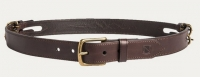 Pasek Noble Outfitters double buckle ciemny bąz