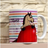 "Kubek firmy Leo the Horse ""Stripes"""