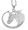 Necklace - horse head rhinestones
